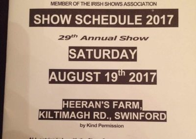 Swinford agricultural show 2017 schedule cover