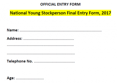 national young stockperson final entry form