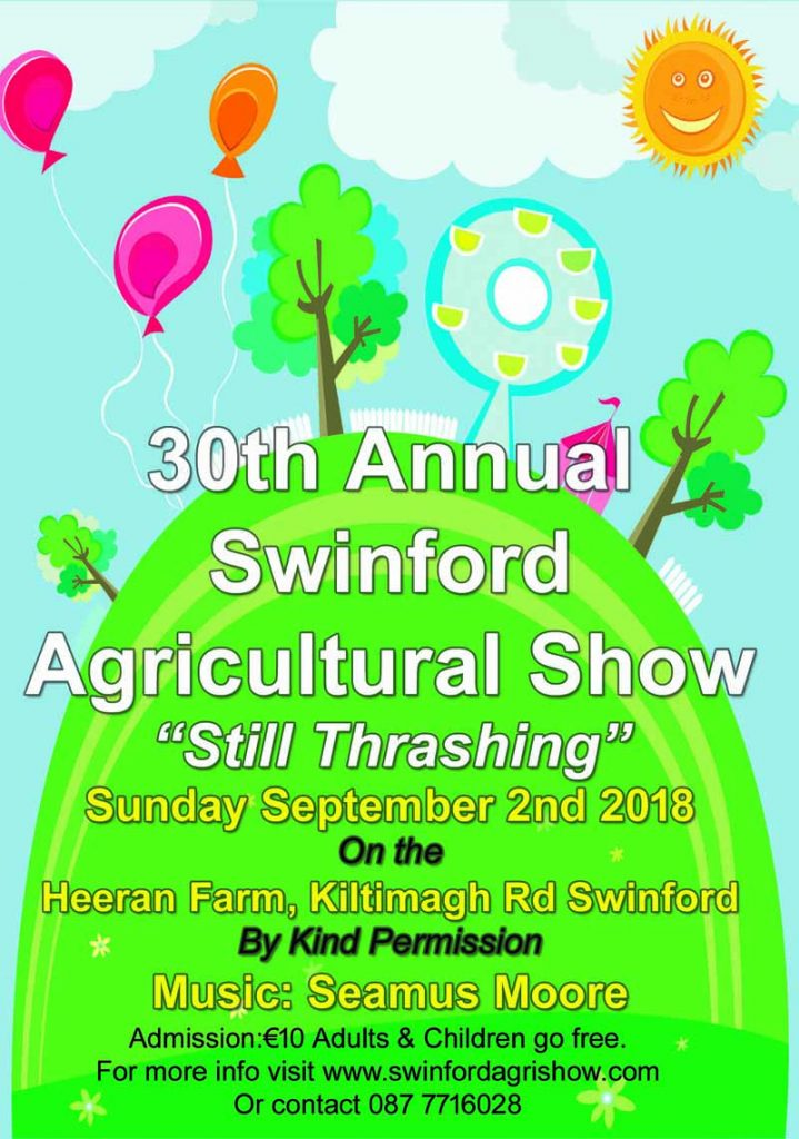 30th annivesary swinford agricultural show poster