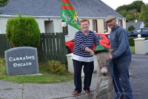 Winner of the donkey in last years raffle