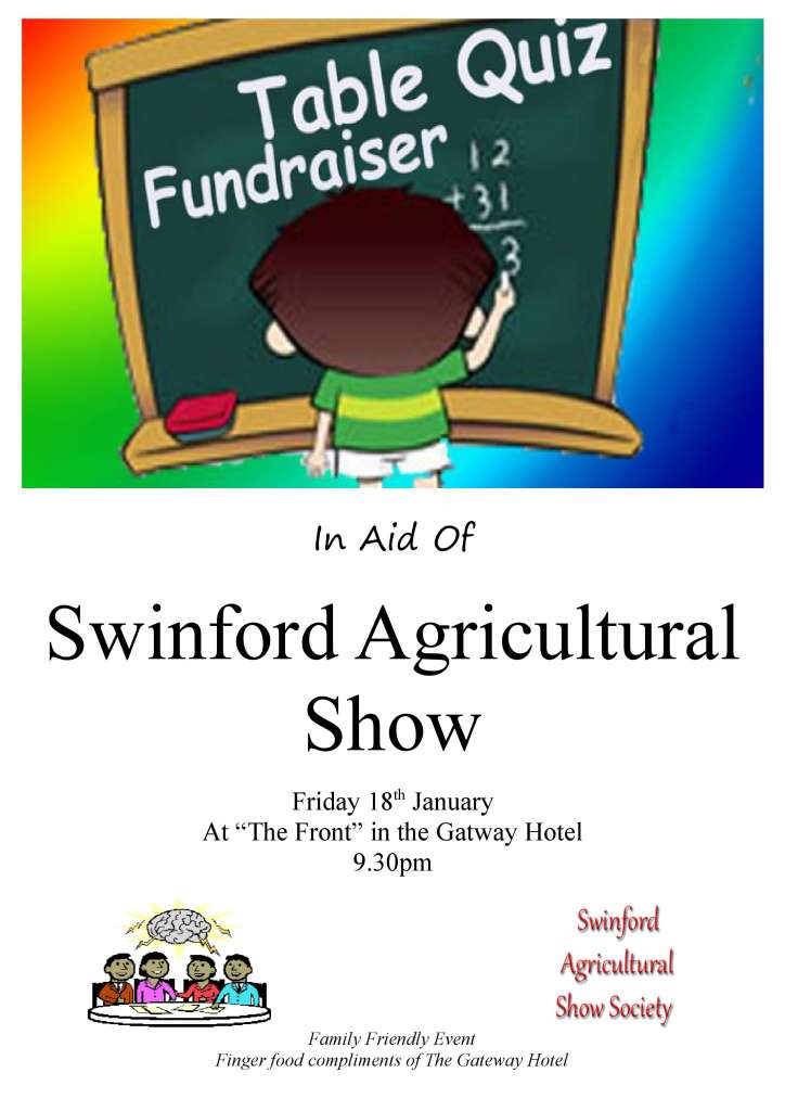 Agri Show Table quiz Friday 18th January